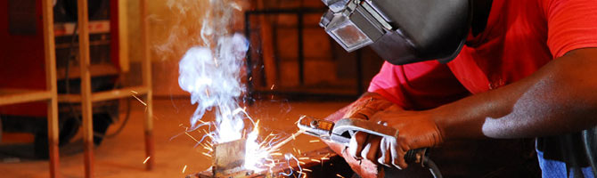 Steel Bending at Barbados Vocational Training Board